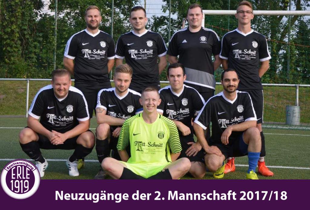 Neuzugänge der 2. Mannschaft 2017/18