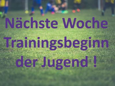 Trainingsbeginn der Jugend 2017/18