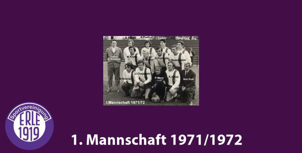 1 Mannschaft 1971/1972