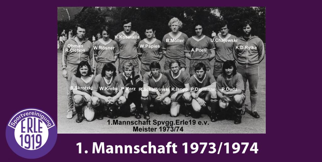 1 Mannschaft 1973/1974