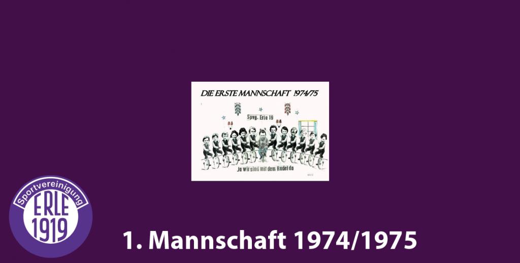1 Mannschaft 1974/1975