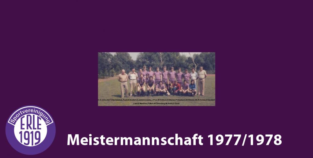 1 Mannschaft 1977/1978