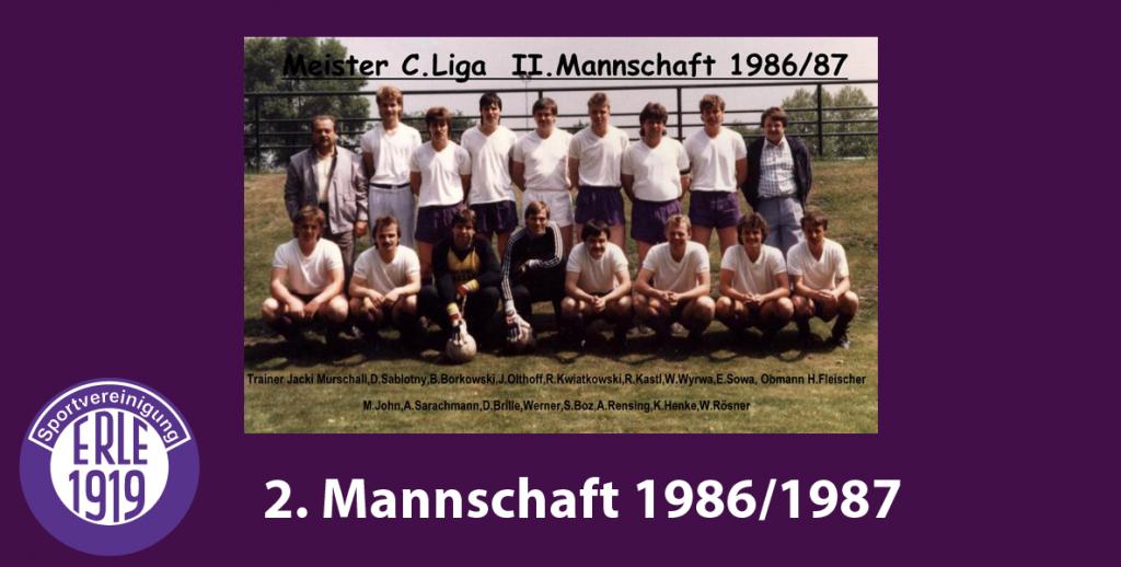 1 Mannschaft 1986/1987