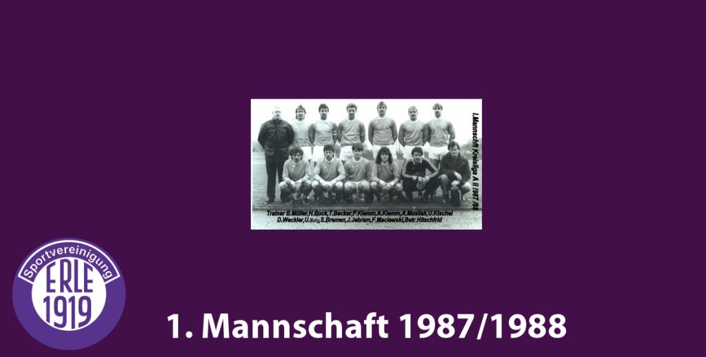 1 Mannschaft 1987/1988