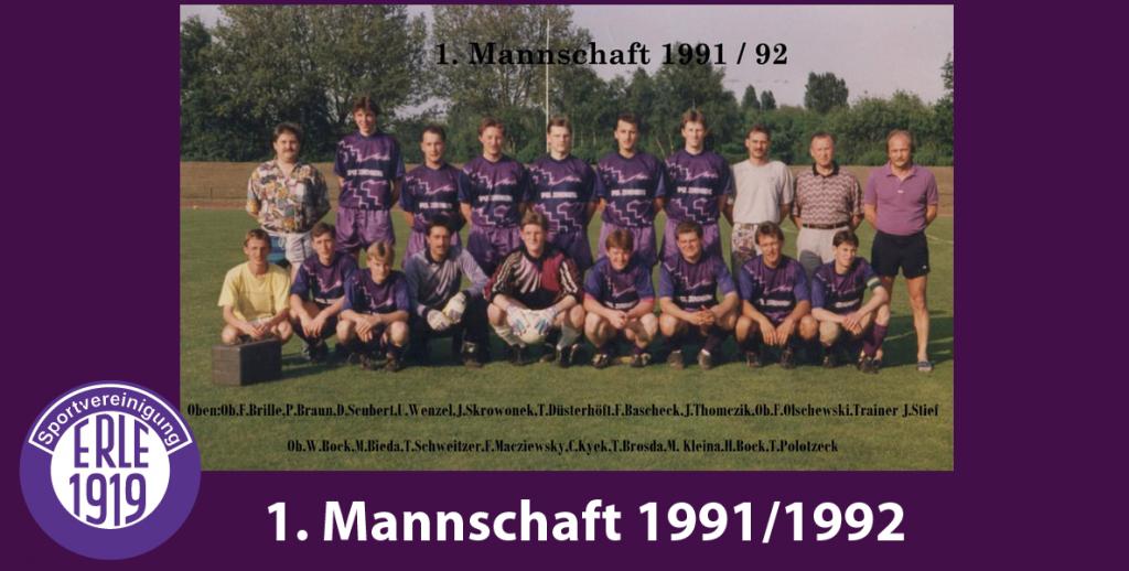 1 Mannschaft 1991/1992