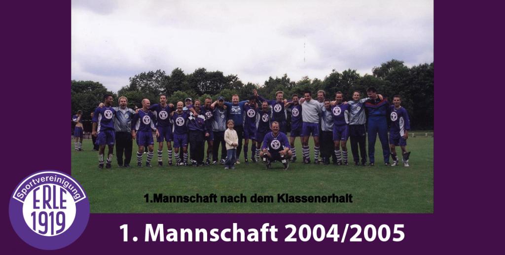 1 Mannschaft 2004/2005