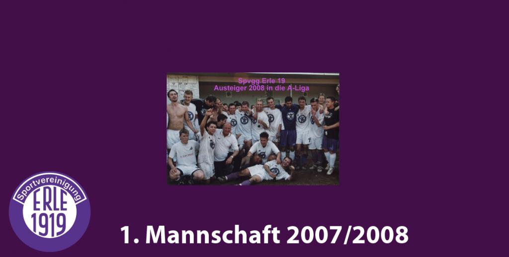 1 Mannschaft 2007/2008
