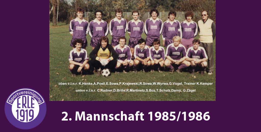 2 Mannschaft 1985/1986