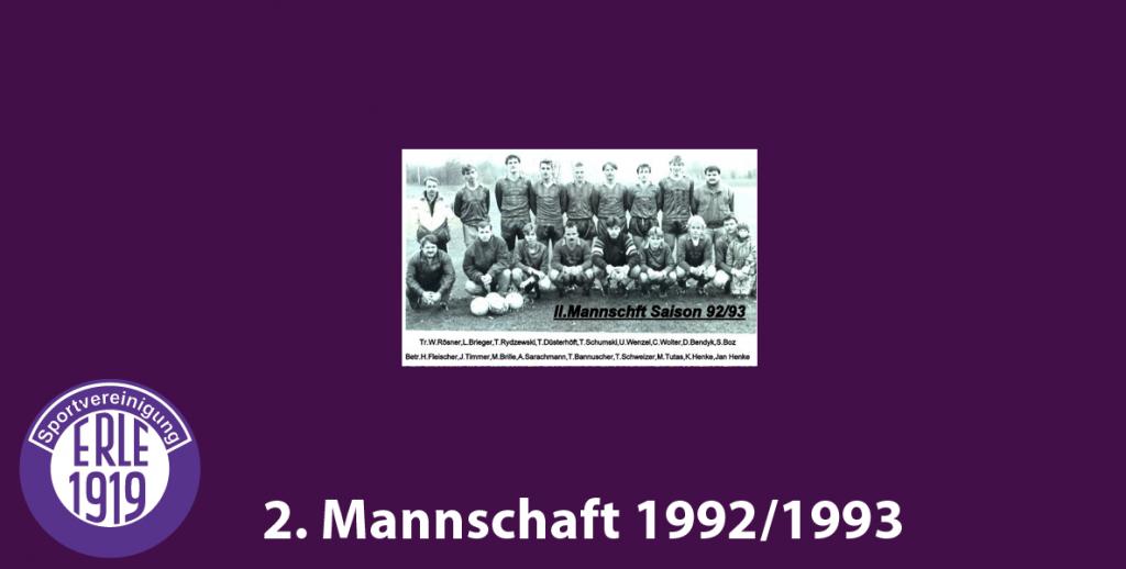 2 Mannschaft 1992/1993