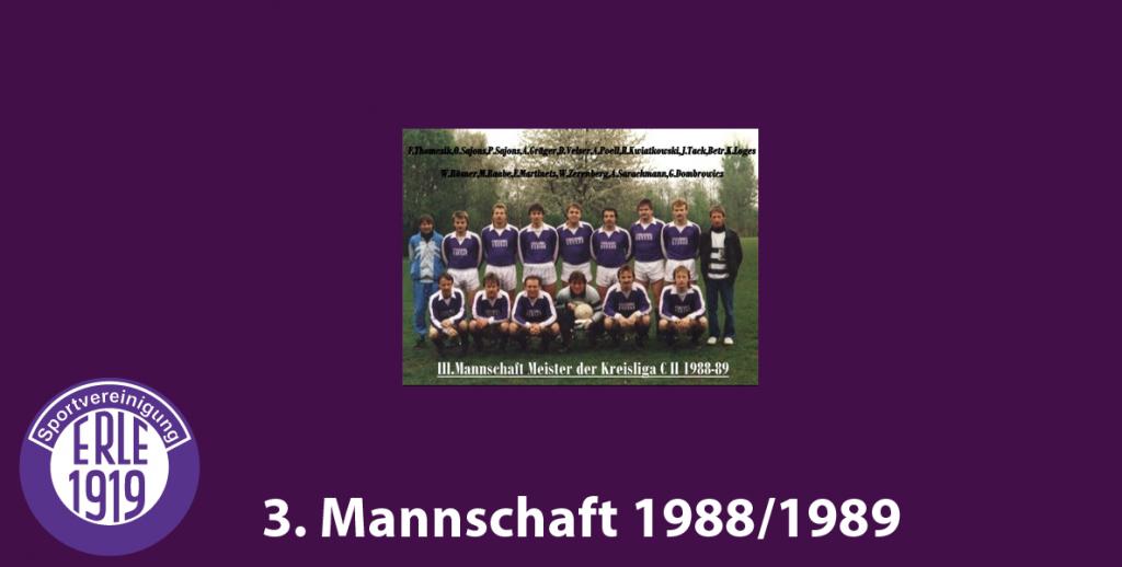 3 Mannschaft 1988/1989